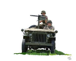WW2 Jeep by Mattwhiteart