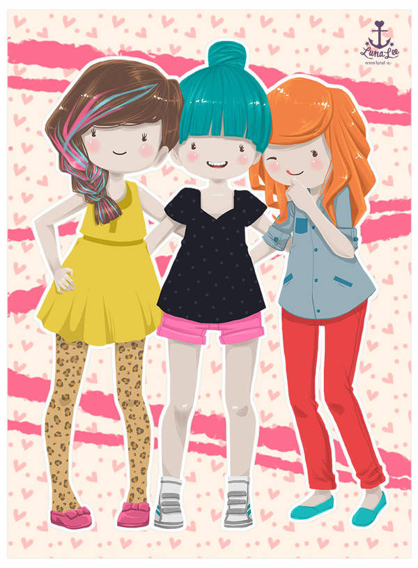 Little Girls by muniart