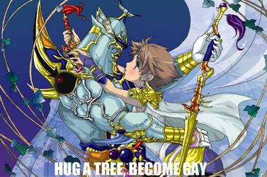 Tree Hugging by MechaRoboSheep