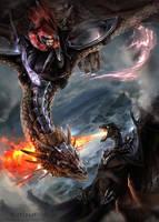Dragon Battle by Nightpark