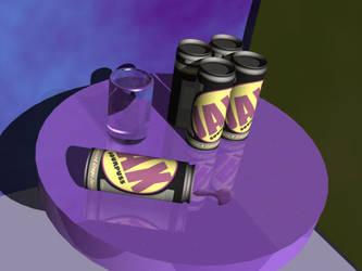 JAX Soda 3D render by DCJaxDesign