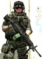 Cpl. Avery Mackovich U.S Army Ranger by LordHayabusa357