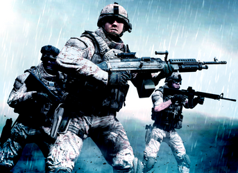 Combating in a Storm, its what Marines do by LordHayabusa357