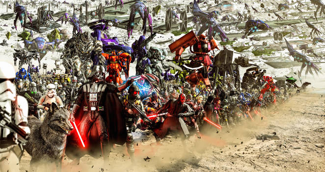 Battle for the Cosmos (Dark Side Army) by LordHayabusa357