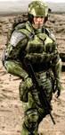 UNSC Marine (H2A) by LordHayabusa357