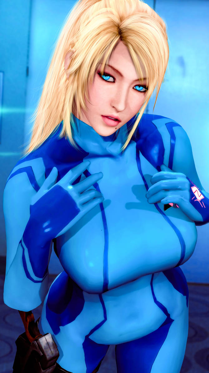 Samus Aran Closeup by LordHayabusa357