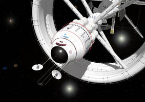 Bow View Interstellar Vehicle by russcolwell