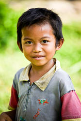 Boy with a smile on his face. by Treke