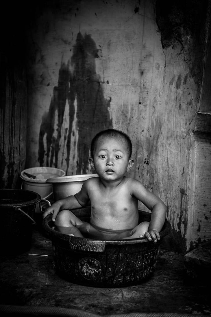 Enjoying a bath. by Treke