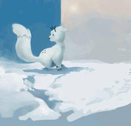the deerfox by pinapplekid