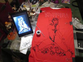 Vampirella sketch by BREIZH-ANKOU