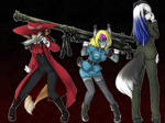 alucard, seras, and integra as wolves by zoewp