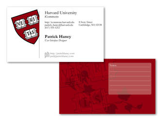 Harvard Business Card Mockup by splat