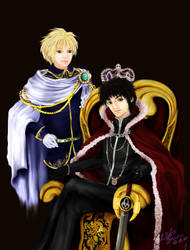 The Portrait of Two Kings by scythrine