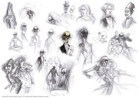 Phantom of the Opera Sketches by Leopreston