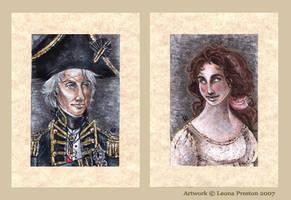 Nelson and Hamilton Portraits by Leopreston