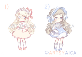 [OPEN] Auction: Lace+Ruffles Adopts by ArtsyAica