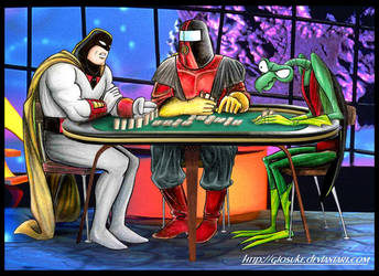Space Ghost Domino by Giosuke