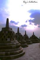 Borobudur and The Deep Purple by RoyWicaksono