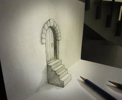 Door and stair anamorphosis by AlessandroDIDDI
