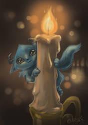 Candle Gnome by Mirella-Gabriele