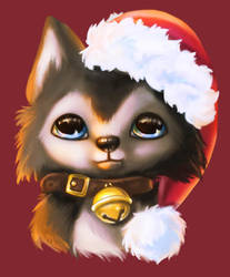 Christmas Husky by Mirella-Gabriele