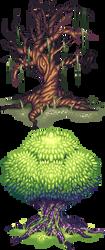 Pixel Trees by AmandaKieferArt