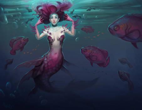 Fantasy Zodiac Pisces by AmandaKieferArt