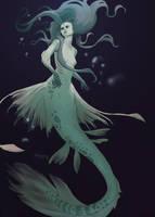 Mermaid by AmandaKieferArt
