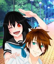 OC Kuroko No Basket - Tsubasa and Yuuka by MadokaSuigito