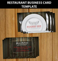Restaurant Business Card Templ by Hotpindesigns