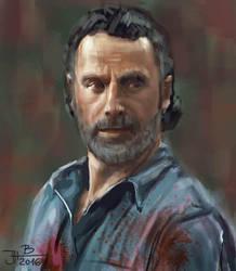 Rick from Walking Dead by jablar