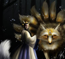 [Practice] Nine_tailed_fox by DalviKim