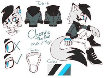 Chance the fox Ref. Sheet by LazyLinez