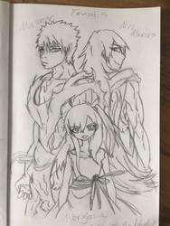 Masrur, Muu Alexius and Morgiana from Magi by DizzyDimensy