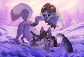 Commission: We all will be in a snowdrift by AnastasiyaVB