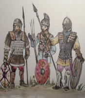 byzantine infantry by LordMatini