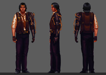 Steampunk character design by Wilmar-Ballespi