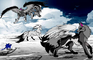 The Wolf Pack by angel00101