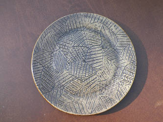 Carved plate by Leelaney