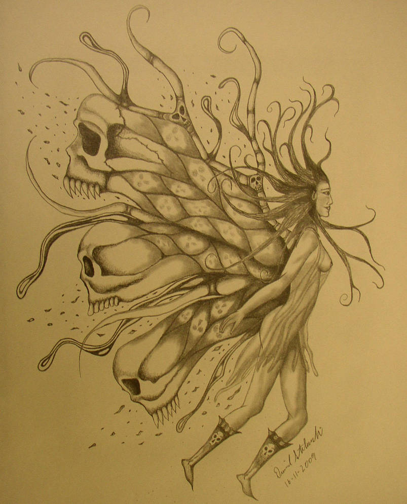 Skull Fairy by dksartwork