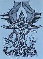 Celtic Cross by dksartwork