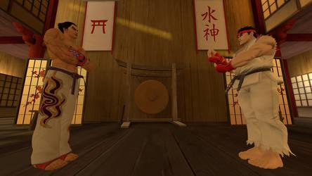 Kazuya vs Ryu by Firel-Wolf-88