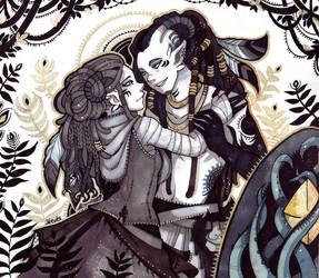 Shikishi Morgane et Faun by Rituhell