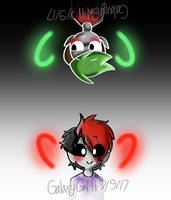 (Lil A and Lil D)Black and White by GalaxyGal-11