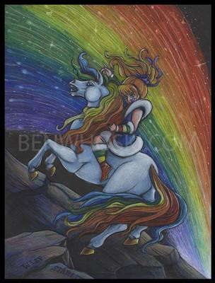 Rainbow Brite Crossing the Pits by benwhoski