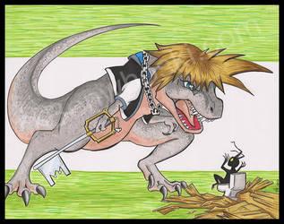 Jurassic Hearts: Tyranno-Sora Rex by benwhoski