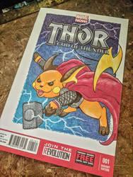 Custom Comic Book Cover: Rai-Thor by benwhoski
