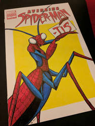 Avenging Spider-Mantis by benwhoski