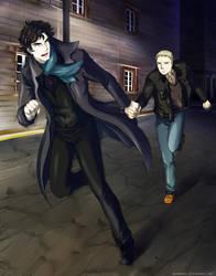 Sherlock: Take my hand! by OkenKrow